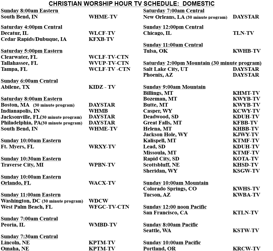 list of domestic stations - same information as what is available in the PDF link above