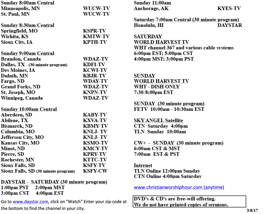 page 2 list of stations - same information as what is available in the PDF above