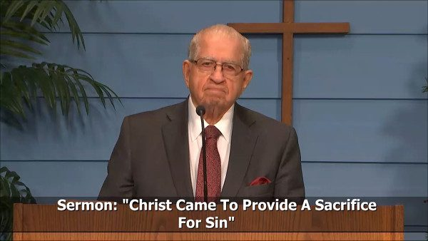 Christ Came to Provide a Sacrifice for Sin