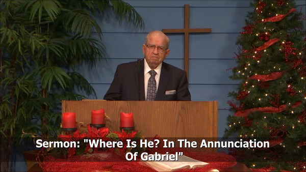 Where Is He In The Annunciation Of Gabriel
